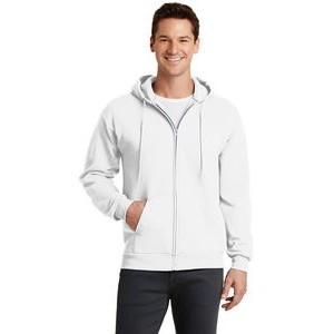 Port & Company® Men's Core Fleece Full-Zip Hooded Sweatshirt