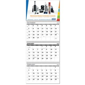 Economy Four Panel Full Color Custom Wall Calendar