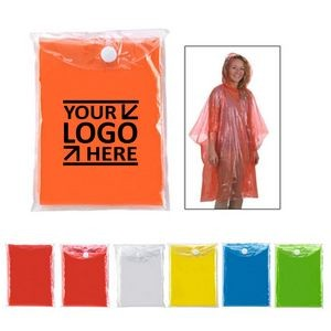 Adult Disposable Rain Promotional Poncho