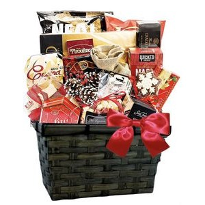 Holiday Gift Basket of Snacks