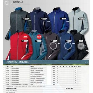 FootJoy HydroLite Rain Jacket Full Zip-Blank
