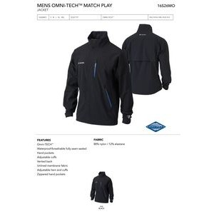 Columbia Men's Omni-TECH Match Play Full Zip Jacket - Blank