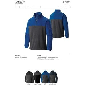 Columbia Flanker 1/4 Zip Fleece Colorblock Jacket -Blank