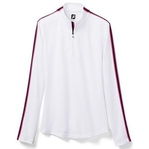 FootJoy Ladies Double Layer Pique Midlayer with Sleeve Stripe