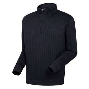 Footjoy Drop Needle Half-Zip Pullover with Gathered Waist