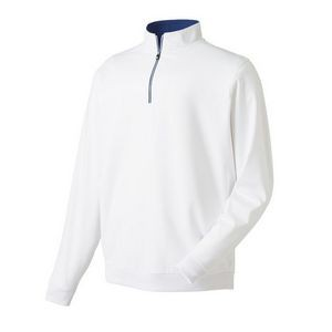 FootJoy® Performance 1/2 Zip Pullover w/Gathered Waist (White)