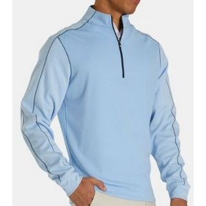 FootJoy® Tonal Heather Mid Layer Pullover (Sky)