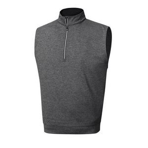 FootJoy® Performance Half-Zip Pullover Vest w/Gathered Waist (Heather Charcoal)