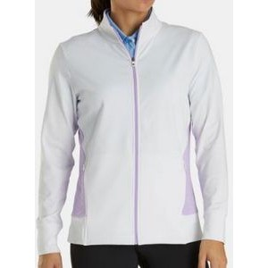 FootJoy® Women's Full Zip Mid Layer Jacket (White/Orchid Heather)