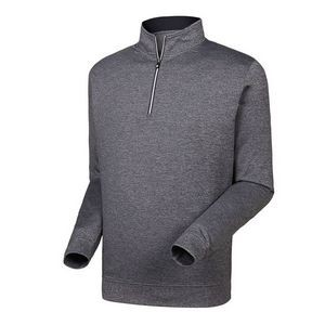 FootJoy® Performance 1/2 Zip Pullover w/Gathered Waist (Heather Charcoal)
