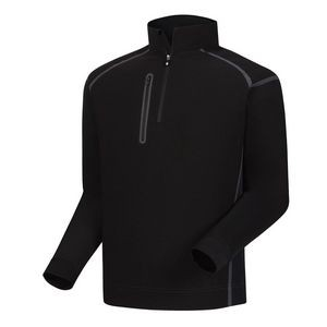 FootJoy® Wind Tech Pullover (Black+Charcoal)