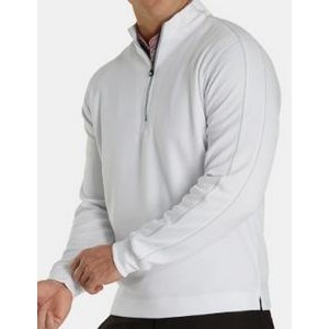 FootJoy® Tonal Heather Mid Layer Pullover (White)
