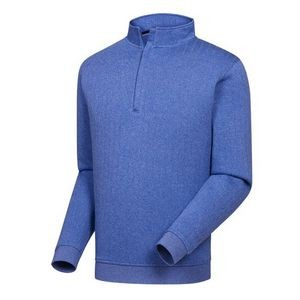 FootJoy® Drop Needle 1/2 Zip Pullover w/Gathered Waist (Heather Blue)