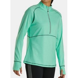 FootJoy® Women's Tonal Mid Layer Jersey Pullover (Jade Stone)
