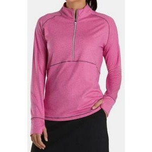 FootJoy® Women's Tonal Mid Layer Jersey Pullover (Rose Pink)