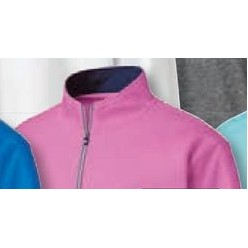 FootJoy® Performance 1/2 Zip Pullover w/Gathered Waist (Iced Berry)