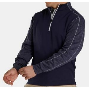 FootJoy® Tonal Heather Mid Layer Pullover (Navy)