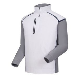 FootJoy® Wind Tech Pullover (White+Grey/Navy)