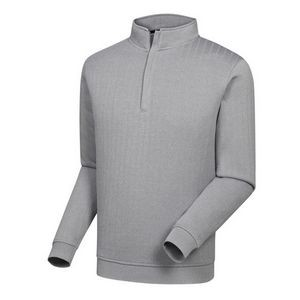 FootJoy® Drop Needle 1/2 Zip Pullover w/Gathered Waist (Heather Gray)