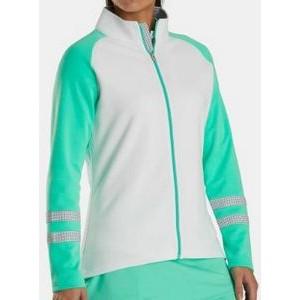 FootJoy® Women's Color Block Jacket (White/Jade/Charcoal)