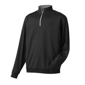 FootJoy® Performance 1/2 Zip Pullover w/Gathered Waist (Black)