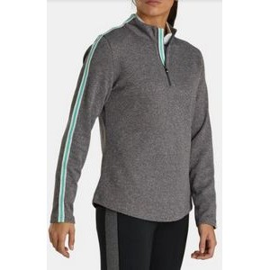FootJoy® Women's Double Layer Pique Pullover (Charcoal Heather)