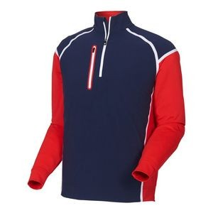 FootJoy® Wind Tech Pullover (Navy+Red/White)