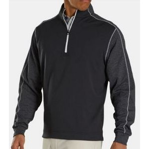 FootJoy® Tonal Heather Mid Layer Pullover (Black)