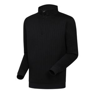 FootJoy® Drop Needle 1/2 Zip Pullover w/Gathered Waist (Black)