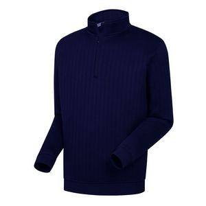 FootJoy® Drop Needle 1/2 Zip Pullover w/Gathered Waist (Navy)