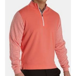 FootJoy® Tonal Heather Mid Layer Pullover (Coral+White)