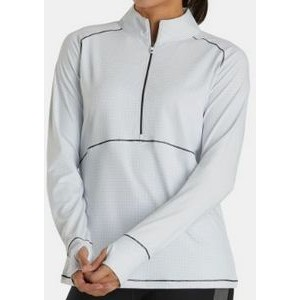 FootJoy® Women's Tonal Mid Layer Jersey Pullover (White)
