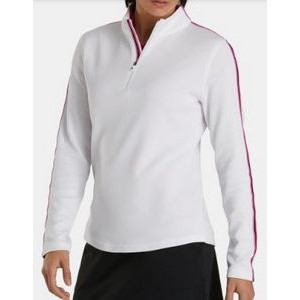 FootJoy® Women's Double Layer Pique Pullover (White)