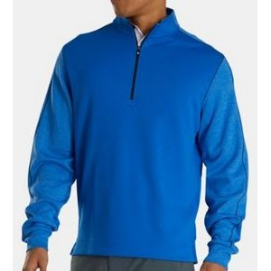FootJoy® Tonal Heather Mid Layer Pullover (Royal+Black)
