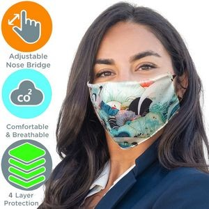 Full Color 4 Layer Cloth Adjustable Safety Face Mask